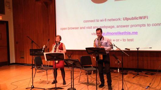 Rhonda Taylor and Michael Ibrahim, Saxophones