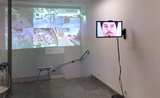 Tracing You (in background) at Galerie Charlot in Paris, France